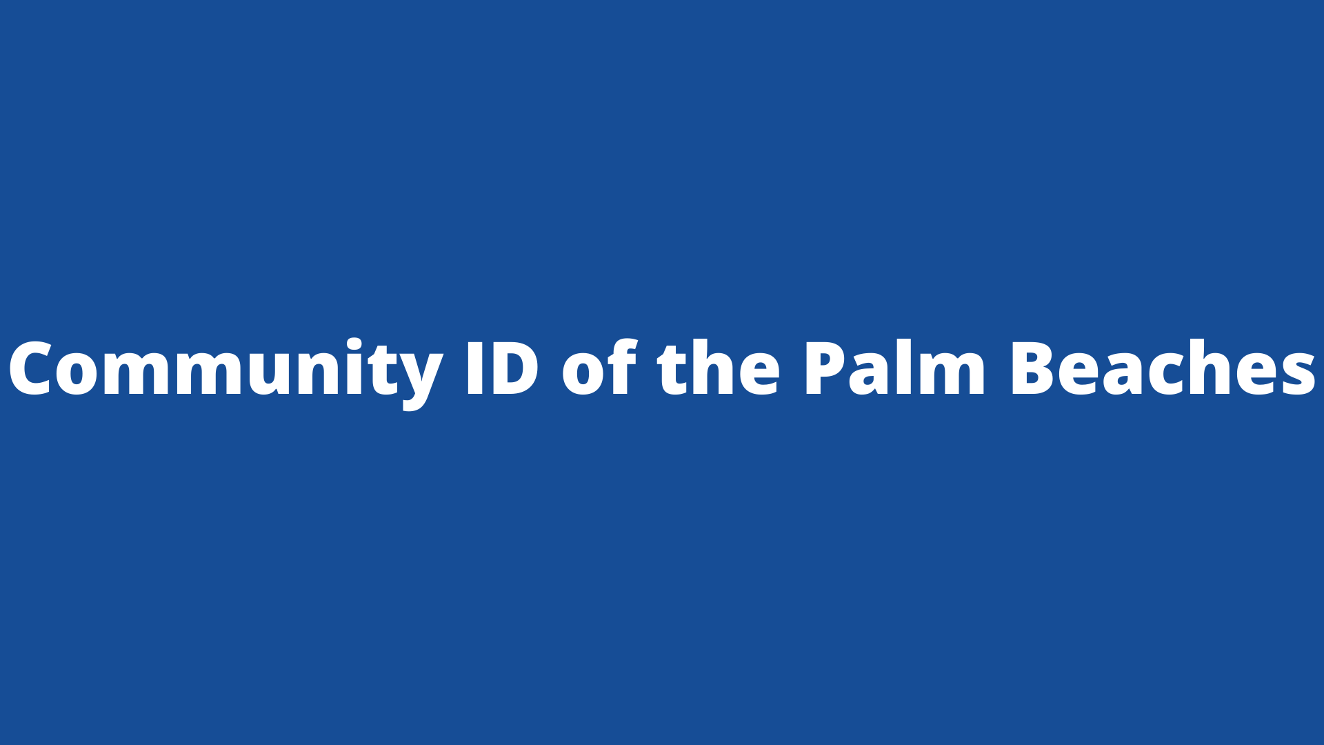 Community ID of the Palm Beaches